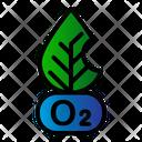 Oxygen Leaf Ecology Icon