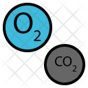 Oxygen Carbon Dioxide Icon