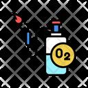 Oxygen Cylinder Welding Icon