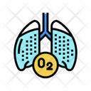 Lungs Oxygen Color Icon