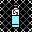 Oxygen Tank Color Icon