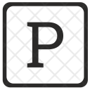 Uppercase P Letter Icon