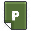 File P Extension Icon