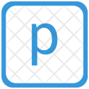 P Lower Case Icon