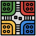 Pachisi Tabletop Hobbies And Free Time Icon