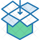 Package Parcel Open Box Icon
