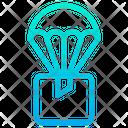 Parachutes Box Parcel Icon