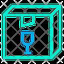 Box Parcel Glass Icon