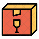 Box Parcel Glass Icon