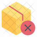 Package Box Cancelled Icon
