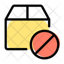 Package Ban Parcel Ban Package Block Icon