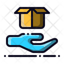 Care Package Hand Icon