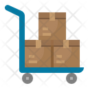 Trolley Delivery Cart Icon
