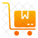 Package Dolly Hand Truck Delivery Icon