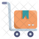 Hand Truck Delivery Logistics Icon