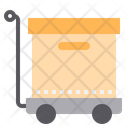 Package Dolly Package Trolley Delivery Icon