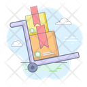 Package Dolly Shipping Trolley Cargo Dolly Icon
