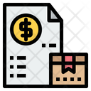Package Invoice Delivery Invoice Parcel Payment Icon