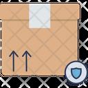 Cardboard Box Shield Icon