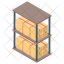 Package Rack Boxes Shelf Package Holder Icon