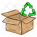 Parcel Recycling Package Recycling Recycling Box Icon