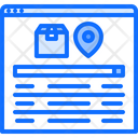 Package Tracking Website Box Icon