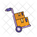 Trolley Boxes Cart Icon