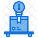 Logistics Measurement Package Box Icon