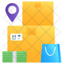 Parcels Cardboards Delivery Packaging Icon