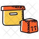 Packaging Parcels Cardoards Icon
