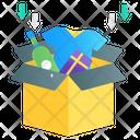 Packaging Parcel Filling Cardboard Icon