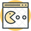 Pacman Game Bubble Icon