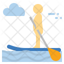 Standup Paddle Boarding Icon