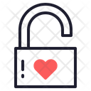 Padlock Heart Lock Icon
