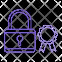 Padlock Protection Badge Icon