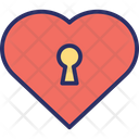 Padlock Heart Shaped Love Secret Icon