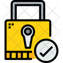 Padlock Check Secure Icon