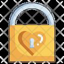 Padlock Love And Romance Heart Shaped Icon