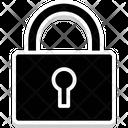 Padlock Heart Shape Cross Lock Icon