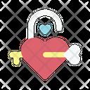 Padlock Love Loving Icon
