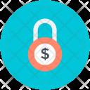 Padlock Safety Dollar Icon