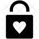 Padlock Heart Sign Icon