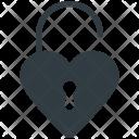 Padlock Heart Shaped Icon