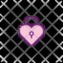 Padlock Love Icon
