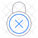Padlock refuse Icon