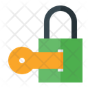 Padlock with key Icon