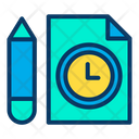Writing Time Time Management Learning Time Icon