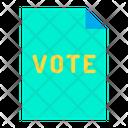 Vote Vote Paper Election Page Icon