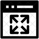 Page Expand Expand Arrows Website Icon