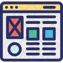Design Landing Mockup Icon